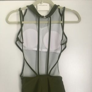 Zaful Swim - Army Green Swimsuit- Padded, Strappy back *ZAFUL*